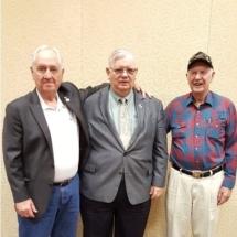 GySgt Bill Manbeck and LTCmdr Eugene Tulich with Sgt Ivan P. Hammond